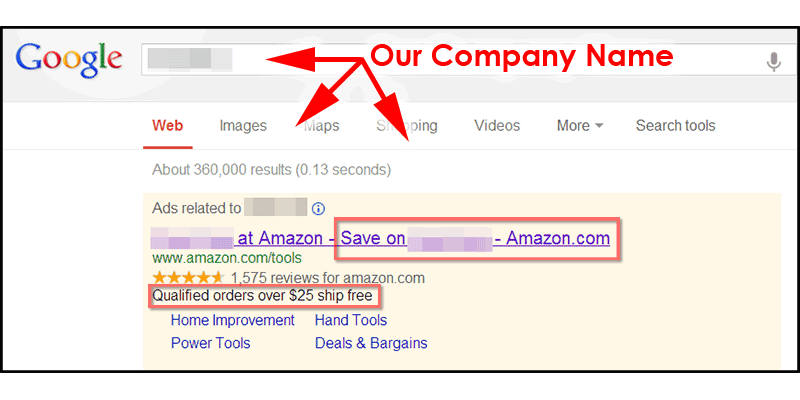 Amazon Affiliate Paid Search Ad